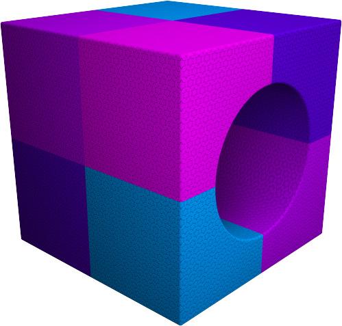 Куб с отверстием. Основная роль геометрических фигур развить логическое мышление.