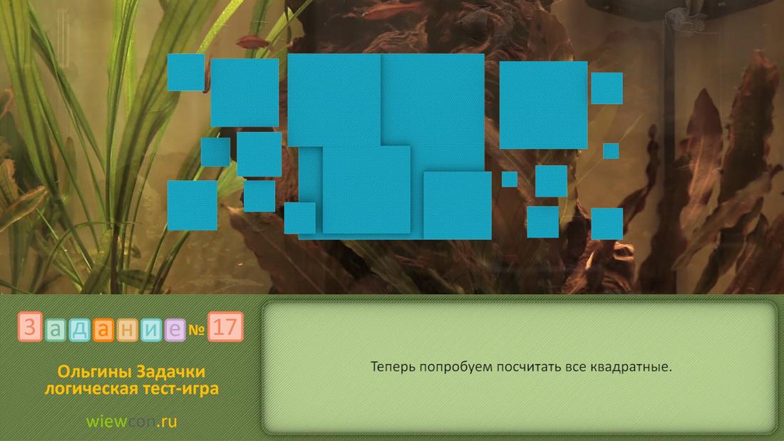 Попробуем посчитать все квадратные фигурки. Ольгина видео подсказка – задание 28